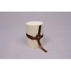 Cx. Madeira cilindrica D.7,5x2,5xH.10cm