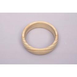 Argolas madeira (pulseira) 6,7x3,5cm