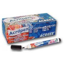 Tinta tecido Acrilex Acrilpen