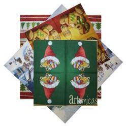 Conjunto de 20 Guardanapos Natal Diversos