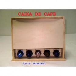 Cx. p/Nespresso ao alto  ( Base 27,5x10 Alt. 21,5cm )