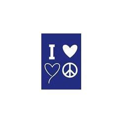 "Kit Stencil A4 P/Tecido ""I Love you"""