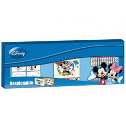 Set de pinturas copywrite mickey y minnie desplegable metro 88 piezas.