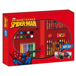 Set de pinturas copywrite spiderman 33 piezas.