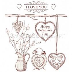 PAPEL 21X29.7CM LOVE P/CALCOTRANSFER
