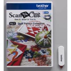 UNIDADE USB BY BROTHER - DESIGNS DE CORTE C/ PADRÕES DE QUILTING