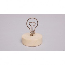 MARCA LUGAR 4.3X5.5CM LAMPADA C/BASE MADEIRA