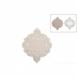 DECORATIVE ELEMENT 9.5X11.5CM DECO-36G FILIGRANA ETIQUETA