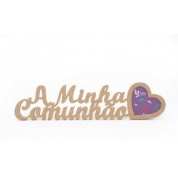 P.FOTO CORACAO A MINHA COMUNHAO 48X12X1.2CM MDF