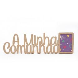 P.FOTO RECT. A MINHA COMUNHAO 50.6X15X1.2CM MDF