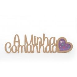 P.FOTO CORACAO A MINHA COMUNHAO 52.2X15X1.2CM MDF