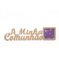 P.FOTO QUAD. A MINHA COMUNHAO 48.3X12X1.2CM MDF