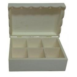 Caixa C/ 6 divisões (23x15,5x8,5cm)