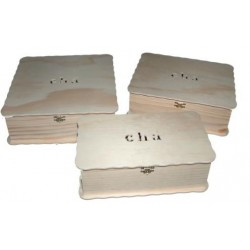 CAIXA PARA CHÁ  C/ 9 divisões (26x20x8,5cm)