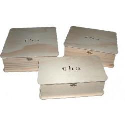 CAIXA PARA CHÁ C/ 6 divisões (26x15x8,5cm)