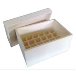 Caixa p/ 24 frascos de verniz c/ tampa