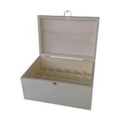 Caixa p/ 24 frascos de verniz c/ fecho