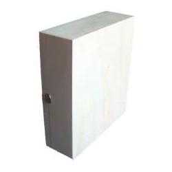 Caixa rectangular para 3 garrafas (30x27x10cm)