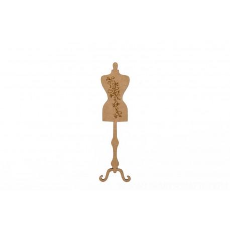 Manequim de madeira 58cm