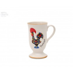 CANECA ASA RED. PINT. 7.6X12.5CM GALO PORTUGAL