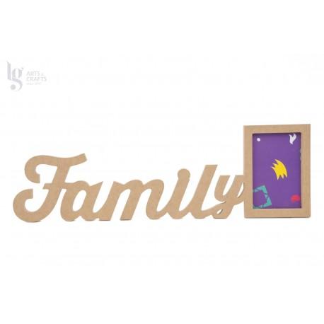 P.FOTO RECT. FAMILY 52.1X16.4X1.2CM MDF