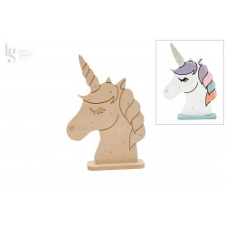 UNICORNIO C/LED 25.8X36.2X1.2CM MDF C/BASE