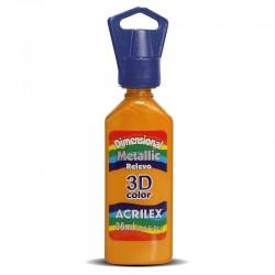 Tinta Acrilex Relevo a 3D Metallic 35 ml