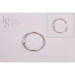 10 Argolas para porta-chaves em prateado com 25mm de diametro