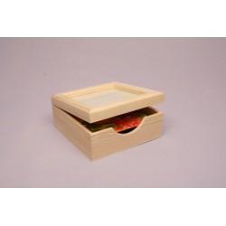 BOX F/NAPKINS 20X20X9CM W/GLASS LID