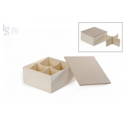 BOX 4 DIV. 16X16X8X0.6CM