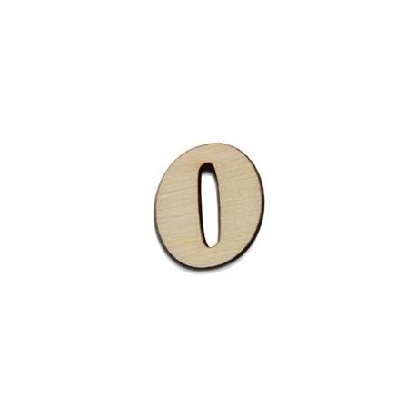 NUMEROS 0 1.3X1.5X0.4CM CHOUPO