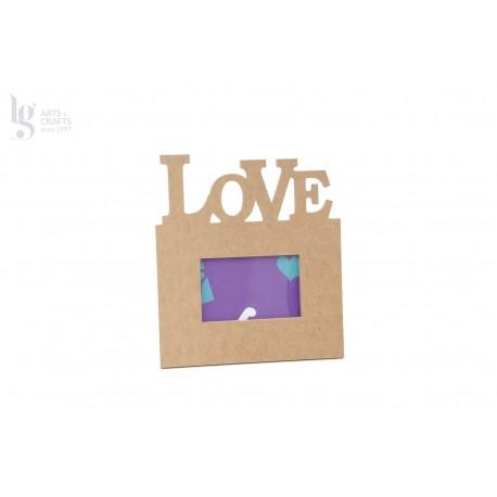 P.FOTO(10x15cm) LOVE 30.4X39.5X1.2CM MDF