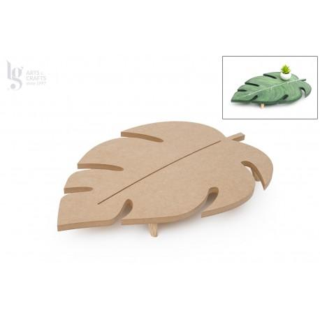 Tabuleiro madeira 53x33x22cm c/pe