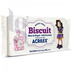 Massa para Biscuit Acrilex Branca 500g