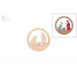 NATIVITY FAMILYS APPLICATIONS 10X0.3CM CHOUPO RISCADO