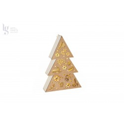 CHRISTMAS TREE 20.5X6X35CM W/BOARD+LED