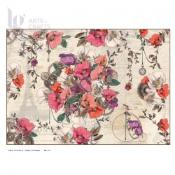 PAPEL ARROZ 35X50CM ROMANTIC STEAMPUNK 2390-789