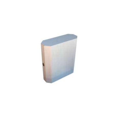 Caixa oitavada c/ fecho para 2 garrafas (30,5x19x10cm)