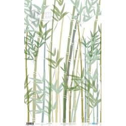 PAPEL ARROZ 54X33CM BAMBOO PLANTS