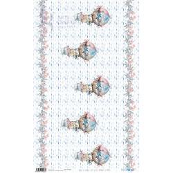 PAPEL ARROZ 54X33CM CUTE LITTLE BUNNIES AND BEARS