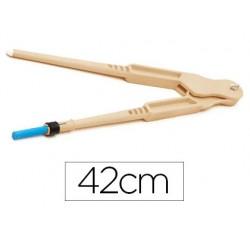 Compasso faibo de plastico imitacao em madeira 42 cm.