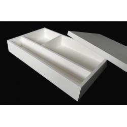 CAIXA P/ BATIZADO C/ TAMPA (37x24x6cm) Pintada de Branco