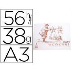 Esquisso papel vegetal a3 38 grs 56 fls.