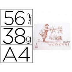 Papel vegetal Esquisso a4 38 grs 56 fls.