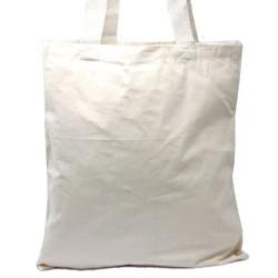 Natural 6oz saco de algodão 38x42cm