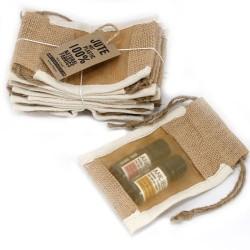 Bolsa Pequena de Juta C/ Janela- 10x15cm