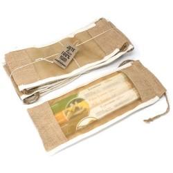 Bolsa Comprida de Juta C/ Janela- 35x15cm
