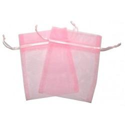 Bolsa de Organza - Rosa (15x13x0.5 Cm )