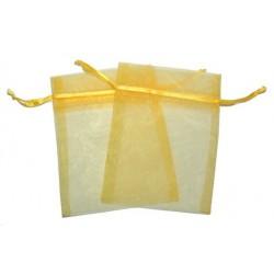 Bolsa de Organza - Amarelo (15x13x0.5 Cm )