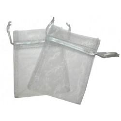 Bolsa de Organza - Cinza (15x13x0.5 Cm )
